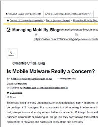 Mobile malware - ghostwritten blog