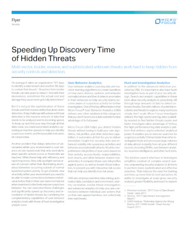 Discovering Hidden Threats solution brief