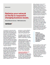 Optimize your network on the fly
