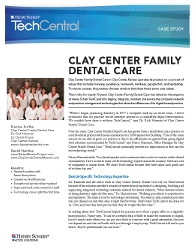 Henry Schein Clay Center success story